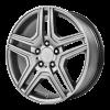 OE Creations PR128 17X7.5 Hyper Silver