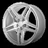 OE Creations PR136 18X8 Hyper Silver