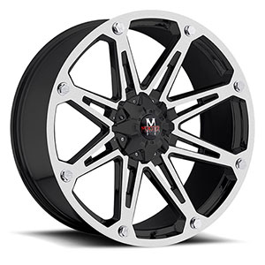 Off Road Monster M01 Black Machined 18 X 9 Inch Wheel