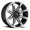 Off Road Monster M01 Black Machined 17 X 9 Inch Wheel