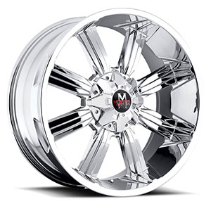 Off Road Monster M03 Chrome 17 X 9 Inch Wheel