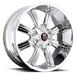 Off Road Monster M03 Chrome 17 X 9 Inch Wheel