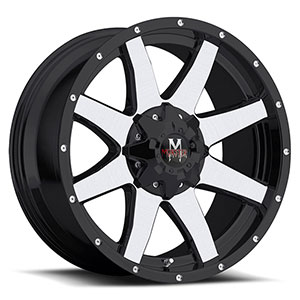 Off Road Monster M08 Black with Machined Face 18 X 9 Inch Wheel