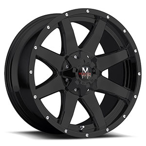 Off Road Monster M08 Black 18 X 9 Inch Wheel