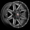 Off-Road Monster M08 17X9 Gloss Black Milled Edges