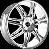 Onyx 904 Chrome 24 x 9 Inch Wheel