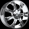Onyx 907 Chrome 24 X 9 Inch Wheel