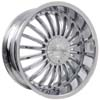 Pinnacle P38 Silo Chrome RWD 22 X 9.5 Inch Wheels