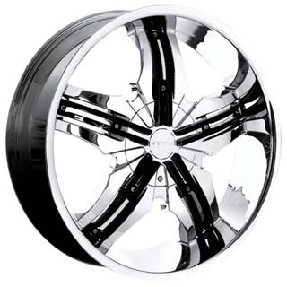 Pinnacle P40 Venice Chrome Black Inserts Wheel Packages