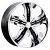 Pinnacle P40 Venice Chrome Black Inserts FWD 17 X 7.5 Inch Wheels