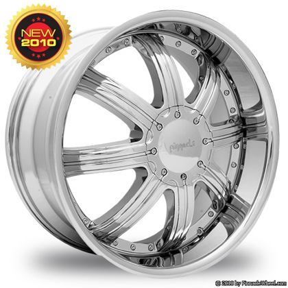 Pinnacle P46 Spade Chrome Wheel Packages