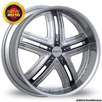 Pinnacle P54 Halo Chrome with Black Inserts Wheel Packages