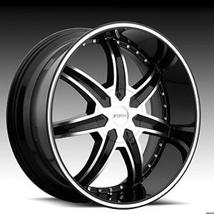 Pinnacle P64 Ziete Black Machined Wheel Packages