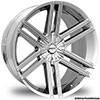 Pinnacle P60-Halo Chrome 24 X 9.5 Inch Wheels
