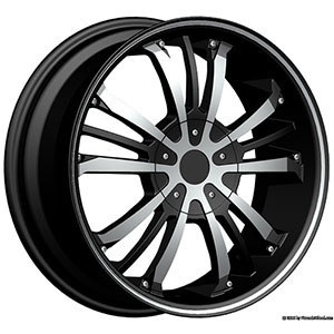 Pinnacle P72 Gunner Black Machined Wheel Packages