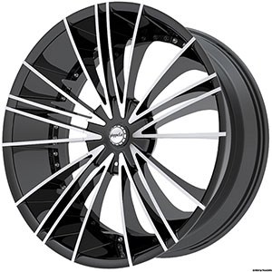 Pinnacle P74 Sage Black Machined Wheel Packages