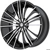 Pinnacle P74 Sage Black Machined 17 X 7.5 Inch Wheels