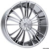 Pinnacle P74 Sage Chrome 20 X 8.5 Inch Wheels