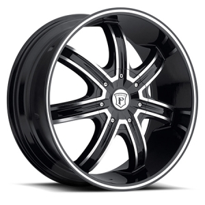 Pinnacle P84 Fnexxa 22X9.5 Black Machine