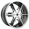 Strada Pistola Chrome 24 X 10 Inch Wheels
