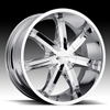 Milanni Raven 438 Chrome 17 X 8 Inch Wheels