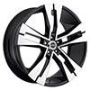 Strada Razza Black with Machined Face 22 X 8.5 Inch Wheels