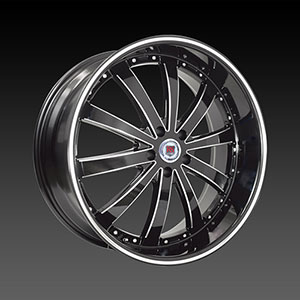 Red Sport RS77A Black Machined 24 X 9.5  Inch Wheel