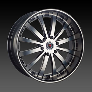 Red Sport RS77B Black Machined 22 X 9.5  Inch Wheel