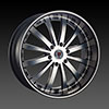 Red Sport RS77B Black Machined 24 X 9.5  Inch Wheel