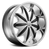 Red Sport RSW88 22X9.5 Chrome with Black Inserts