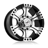 Rev 824 Shooter Black Machined 17 X 9 Inch Wheels