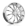 Rev 950 XO Chrome 24 X 9 Inch Wheels