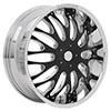 RockStarr 525 Venezia Chrome with Black Inserts Wheel Packages