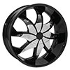 RockStarr Wheels 608 Firehouse Black with Chrome Inserts Wheel Packages
