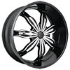 RockStarr Wheels 615 Rush Black with Chrome Inserts Wheel Packages