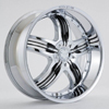Rockstarr Wheels 410 Legend Chrome Black Inserts Wheel Packages