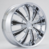 Rockstarr Wheels 411 Genesis Chrome Black Inserts Wheel Packages