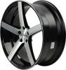 Rovos Durban 22X9 Gloss Black and Brushed Face