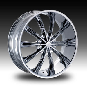 Red Sport RS22 Chrome 17 X 7  Inch Wheel