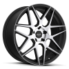 Ruff Racing R351 20X8.5 Flat Black with Machined Face