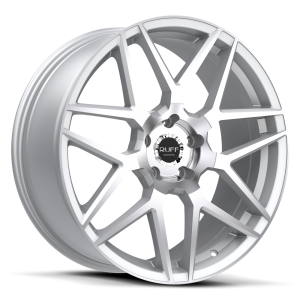 Ruff Racing R351 17X7.5 Hyper Silver with Machined Face