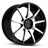 Ruff Racing R353 17X7.5 Gloss Black with Machined Face