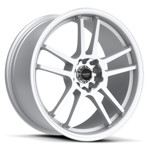 Ruff Racing R354 17X7.5 Hyper Silver with Machined Pin Stripe