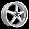 Ruff Racing R357 18X8 Silver Machined