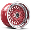 Ruff Racing R362 15X8.5 Red with Machined Lip