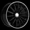 Ruff Racing R950 15X6.5 Gloss Black with Machined Pin Stripe