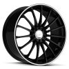 Ruff Racing R950 17X7.5 Gloss Black with Machined Pin Stripe