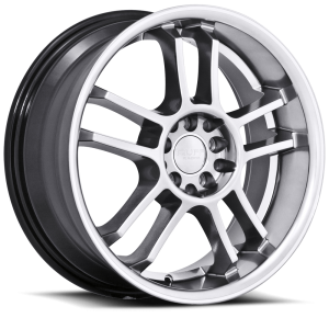 Ruff Racing R952 17X7.5 Hyper Silver with Machined Pin Stripe