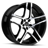 Ruff Racing R954 22X9 Gloss Black with Machined Face