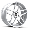 Ruff Racing R954 20X8.5 Hyper Silver with Machined Face